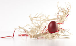 Uovo di Pasqua Fra le filiali Immagini Stock Libere da Diritti