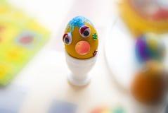 Uovo di Pasqua giallo Immagine Stock Libera da Diritti