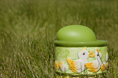 Uovo di Pasqua in natura fotografia stock libera da diritti