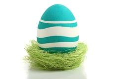 Uovo di Pasqua In nido Fotografia Stock Libera da Diritti