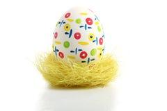 Uovo di Pasqua In nido Immagine Stock Libera da Diritti