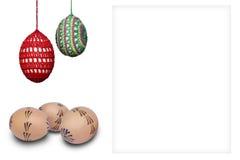 Uovo di Pasqua per testo Fotografie Stock