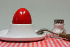 Uovo di Pasqua in portauovo Fotografie Stock Libere da Diritti