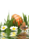 Uovo di Pasqua in prato Immagini Stock