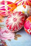 Uovo di Pasqua Pysanka fotografia stock