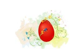 Uovo di Pasqua rosso Immagini Stock