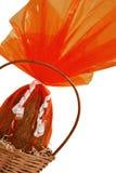 Uovo di Pasqua Spostato del cioccolato Immagine Stock Libera da Diritti