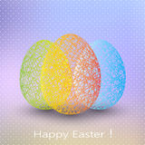 Uovo di Pasqua su fondo vago con il posto per fotografie stock libere da diritti