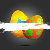 Uovo di Pasqua Variopinto Fotografia Stock Libera da Diritti
