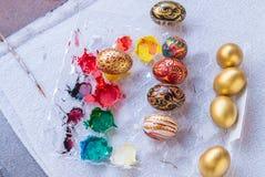Uovo di Pasqua Variopinto Fotografie Stock