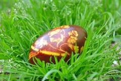 Uovo di Pasqua Variopinto verniciato Fotografie Stock Libere da Diritti