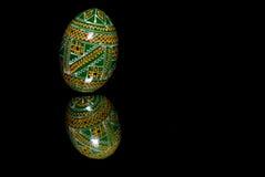 Uovo di Pasqua verde Immagini Stock Libere da Diritti