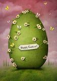 Uovo di Pasqua verde Immagini Stock