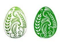 Uovo di Pasqua Verde Fotografie Stock Libere da Diritti
