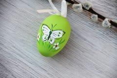 Uovo di Pasqua Verde Immagine Stock