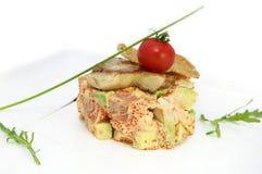Uovo di pesce dei pesci e dell'insalata Fotografia Stock
