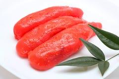 Uovo di pesce salate piccanti del merluzzo immagine stock