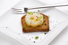 Uovo di quaglie fritto Immagini Stock