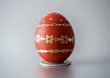 Uovo di rosso di Pasqua Fotografia Stock