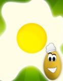 Uovo divertente illustrazione di stock