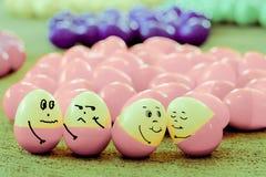 Uovo divertente del fronte Fotografia Stock