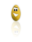 Uovo divertente di Pasqua del fumetto Fotografia Stock