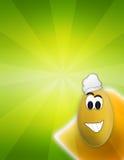 Uovo divertente di Pasqua del fumetto Immagini Stock