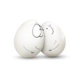 Uovo dolce delle coppie Fotografia Stock Libera da Diritti