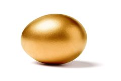 Uovo dorato Fotografia Stock Libera da Diritti