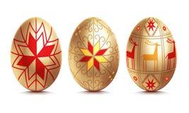 Uovo dorato di Pasqua royalty illustrazione gratis