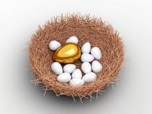 Uovo dorato unico fotografia stock libera da diritti