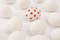 Uovo doted rosso Fotografia Stock Libera da Diritti