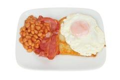 Uovo e fagioli del bacon immagine stock