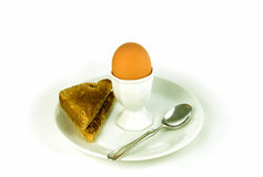 Uovo e pane tostato bolliti Immagini Stock Libere da Diritti