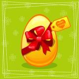 Uovo felice del regalo di Pasqua Fotografia Stock Libera da Diritti
