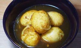 Uovo fritto in olio Immagine Stock