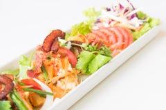 Uovo fritto, salsiccia piccanti di cinese e del bacon Fotografia Stock Libera da Diritti