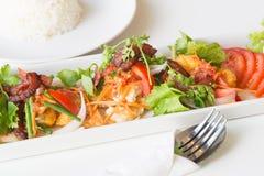 Uovo fritto, salsiccia piccanti di cinese e del bacon Fotografie Stock Libere da Diritti