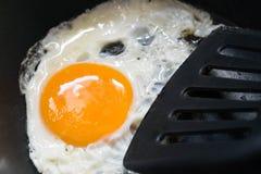 uovo fritto sulla pentola per beakfast Fotografia Stock Libera da Diritti