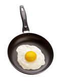 Uovo fritto in una vaschetta Immagini Stock Libere da Diritti