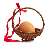 Uovo giallo Fotografie Stock