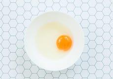 Uovo grezzo Fotografie Stock Libere da Diritti