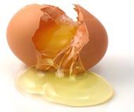 Uovo incrinato Fotografia Stock Libera da Diritti