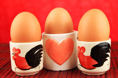 Uova nella tazza Immagine Stock Libera da Diritti