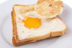 Uovo nel canestro III Fotografia Stock