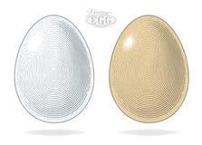 Uovo nello stile inciso annata Immagine Stock Libera da Diritti