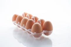 Uovo, pacchetto dell'uovo del pollo Immagini Stock Libere da Diritti