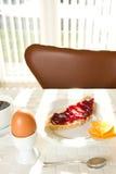 Uovo, pane con ostruzione Fotografia Stock