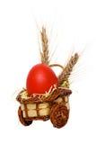 Uovo rosso Fotografia Stock