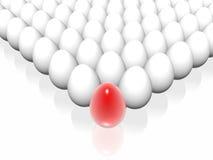 Uovo rosso Fotografie Stock Libere da Diritti